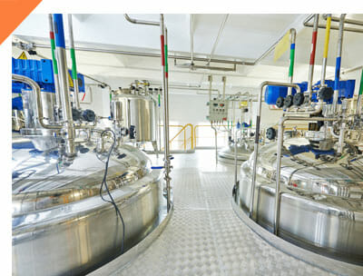 Pharmaceutical manufacturing vats
